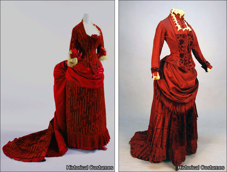 1885's Victorian Bustle Diner Dress