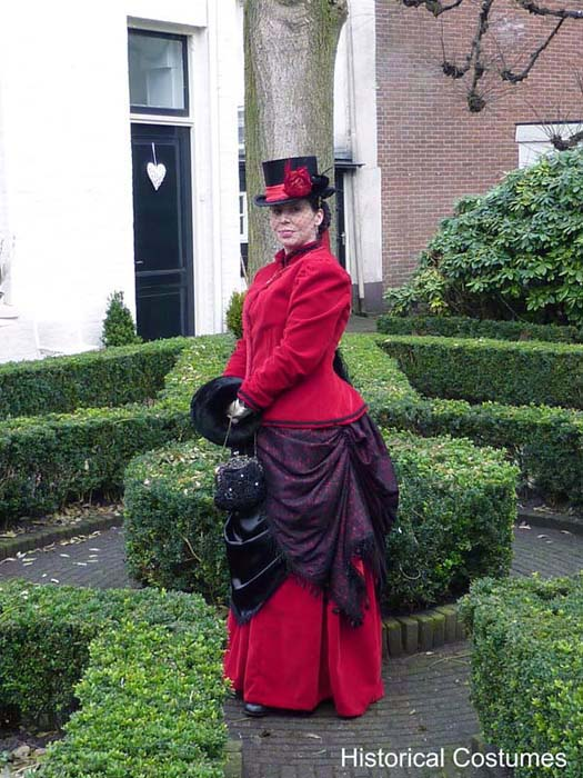1885 Victorian Bustle day costume
